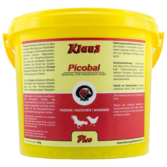 Klaus Picobal Rassegeflügel-Mineral 5kg