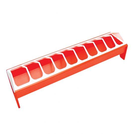 Futterrinne Rot-Weiß aus Kunststoff 50cm