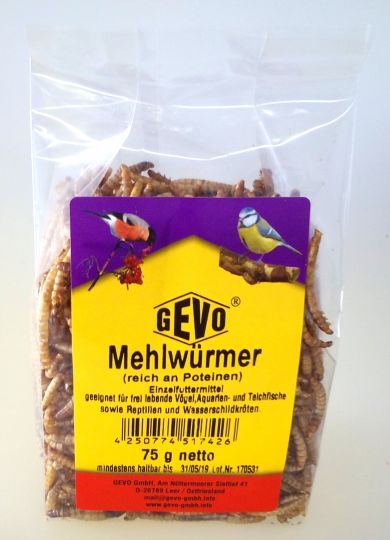 Gevo Mehlwürmer getrocknet 75g