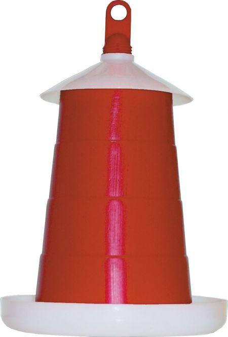 Futterautomat für Geflügel rot 6kg