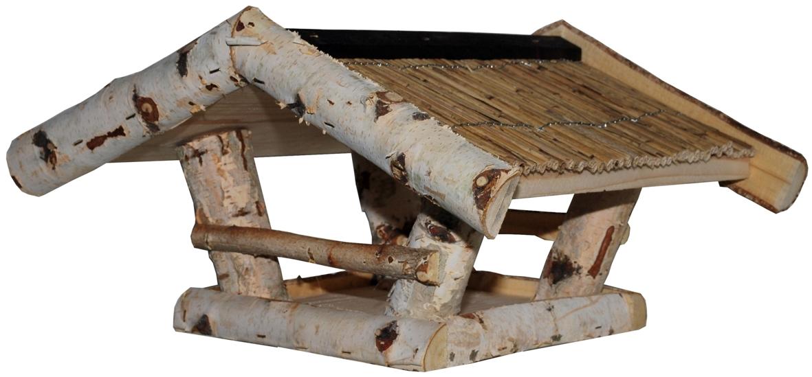 futterhaus aus birkenholz mit strohdach futtermittel. Black Bedroom Furniture Sets. Home Design Ideas