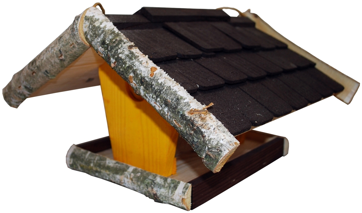 futterhaus aus birkenholz mit silo v gel futtermittel. Black Bedroom Furniture Sets. Home Design Ideas