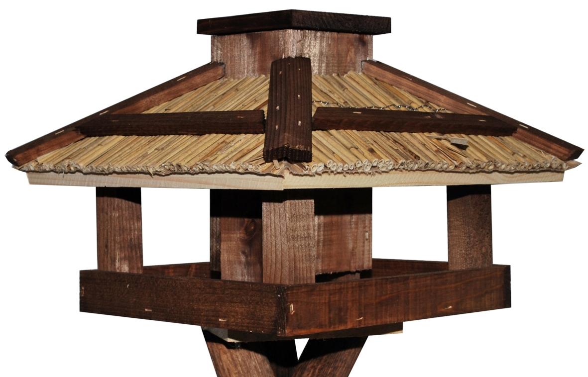futterhaus vogelhaus mit schilfdach v gel. Black Bedroom Furniture Sets. Home Design Ideas
